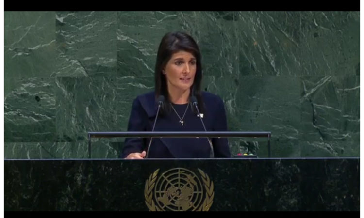 Ambassador Nikki Haley U.S. Permanent Representative to the United Nations