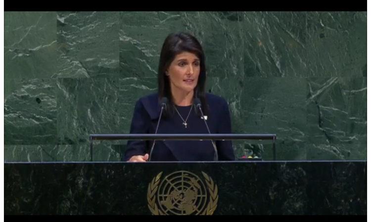 Ambassador Nikki Haley U.S. Permanent Representative to the United Nations